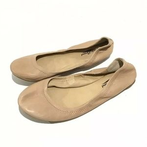 Lucky Brand Emmie Nude Ballet Flats Shoes
